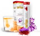 Viên Sủi Hỗ Trợ Trắng Da Saffron Collagen Extra White Chính Hãng