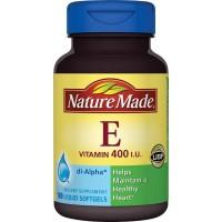 Nature Made Vitamin E 400 IU Làm Đẹp Da 180 Viên Nang Mềm