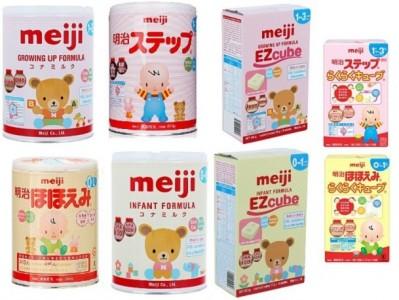 [So sánh] Cách pha sữa Meiji số 0-1 dạng bột và dạng thanh