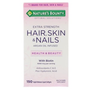 Viên Uống Hair Skin Nails Nature's Bounty