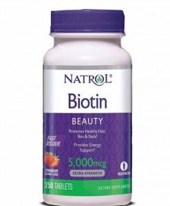 Viên ngậm kích thích mọc tóc Biotin 5000 mcg fast dissolve