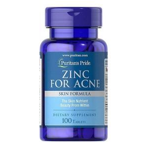 Viêm Uống Kẽm Zinc For Acne Puritan's Pride
