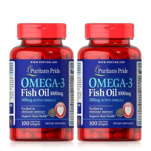 Dầu cá Puritan's Pride Omega-3 Fish Oil 1000mg