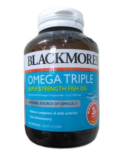 Dầu Cá Blackmores Omega Triple của Úc