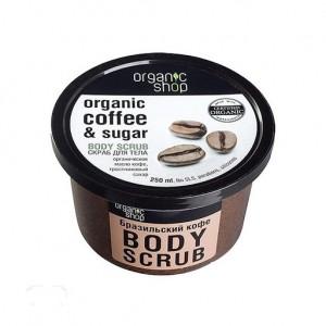 Tẩy da chết toàn thân Organic Shop Organic Coffee & Sugar Body Scrub
