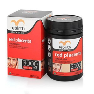 Viên uống nhau thai cừu đỏ Rebirth Red Placenta 3000mg Úc