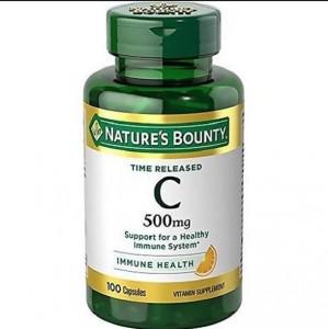 Viên Uống Nature's Bounty Vitamin C Immune Health 500mg