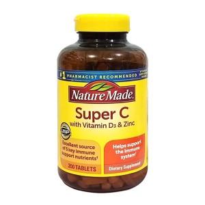 Viên Uống Nature Made Super C With Vitamin D3 & Zinc