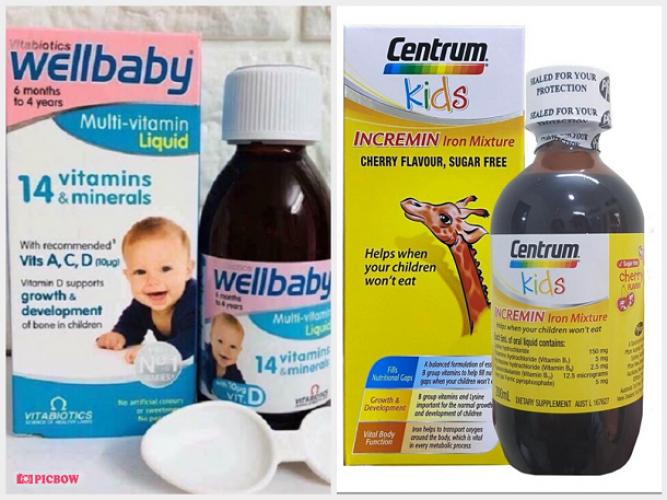 So sánh Wellbaby và Centrum Kid loại nào sử dụng tốt cho bé?