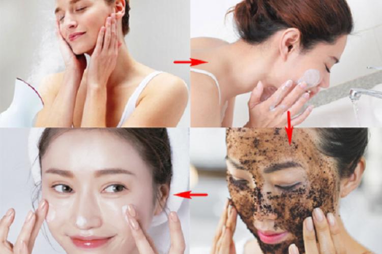 Nên tẩy da chết trước hay rửa mặt trước tốt cho da?