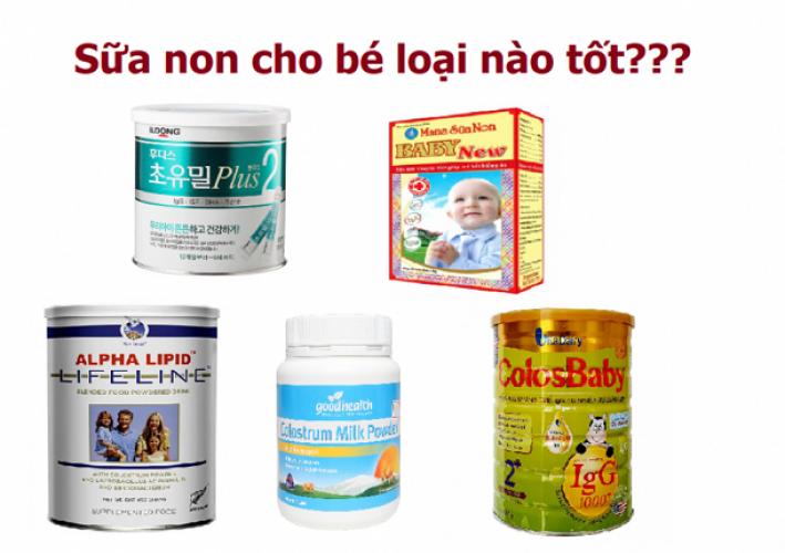 Mách mẹ 5 loại sữa non dành cho trẻ sơ sinh được yêu thích nhất hiện nay