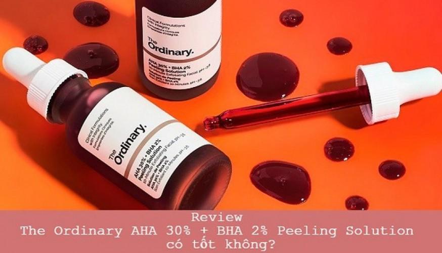 Review The Ordinary AHA 30% + BHA 2% Peeling Solution có đẩy mụn không?