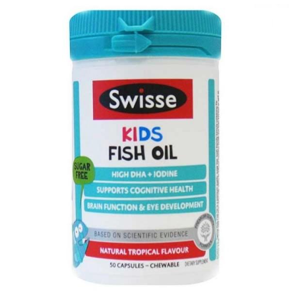 Dầu Cá Swisse Kids Fish Oil 50 Viên Của Úc