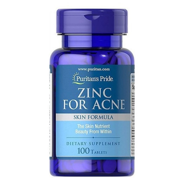 Viên Uống Kẽm Zinc For Acne Puritan's Pride