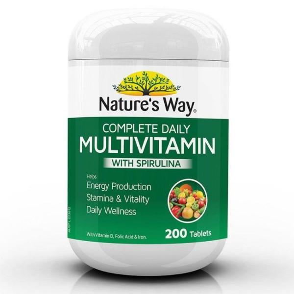 Vitamin Tổng Hợp & Tảo Biển Nature's Way Multivitamin Spirulina