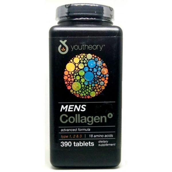 Viên Uống Collagen Youtheory Men's Type 1, 2 & 3 Cho Nam 390 Viên