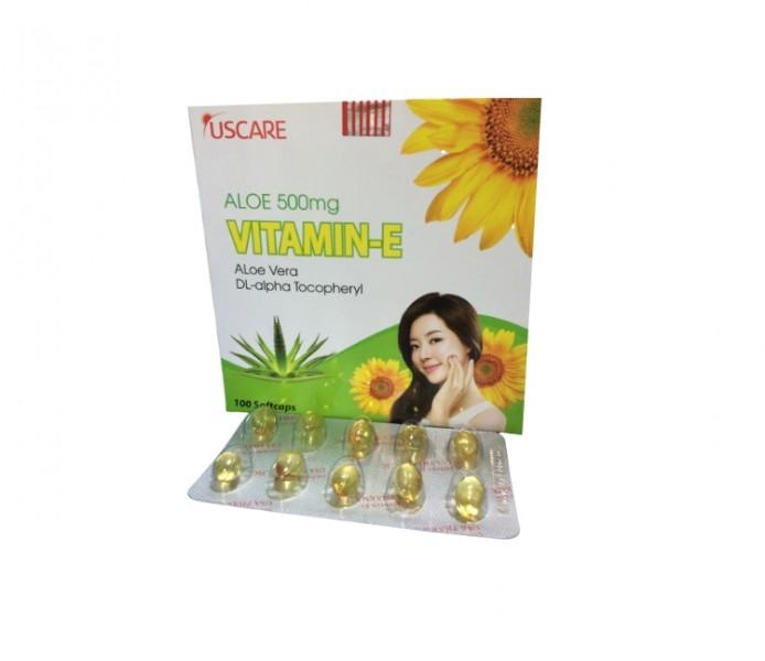 Vitamin E Lô Hội Aloe Vera 500mg ( 10 Viên/ Vỉ)