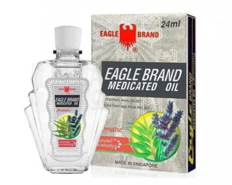 Dầu Gió Trắng Con Ó Eagle Brand Medicated Oil Lavender 24ml