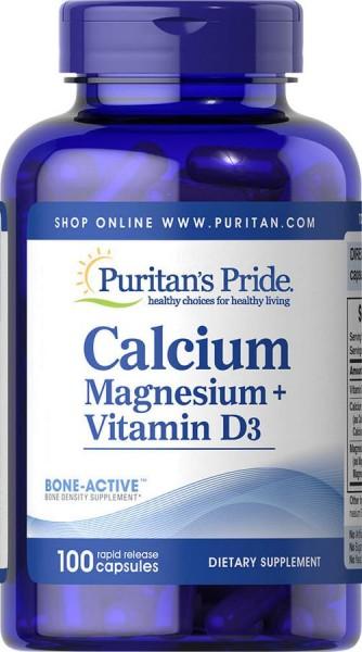 Viên Uống Calcium Magnesium Vitamin D3 Puritan's Pride Của Mỹ