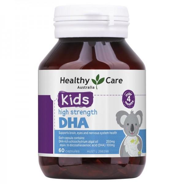 Viên Bổ Sung DHA Healthy Care Kid's High Strength Cho Trẻ