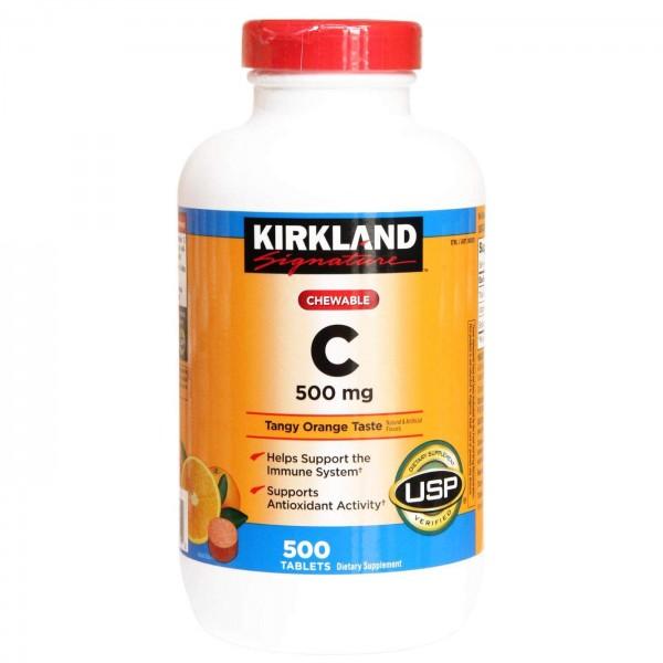 Viên Nhai Bổ Sung Vitamin C 500mg Kirkland Của Mỹ