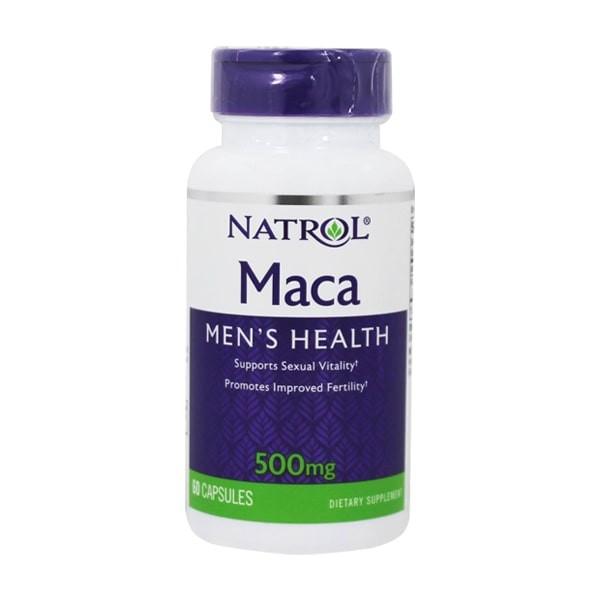 Viên Uống Natrol Maca Men's Health 500mg Hỗ Trợ Sinh Lý Nam