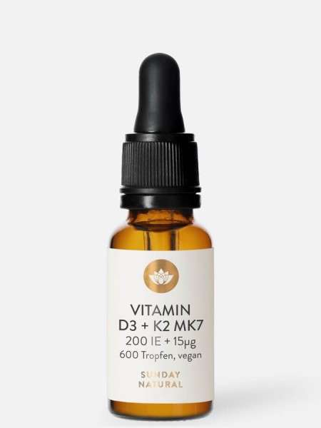 Vitamin D3 K2 MK7 Sunday Natural 200 IE Hỗ Trợ Tăng Chiều Cao