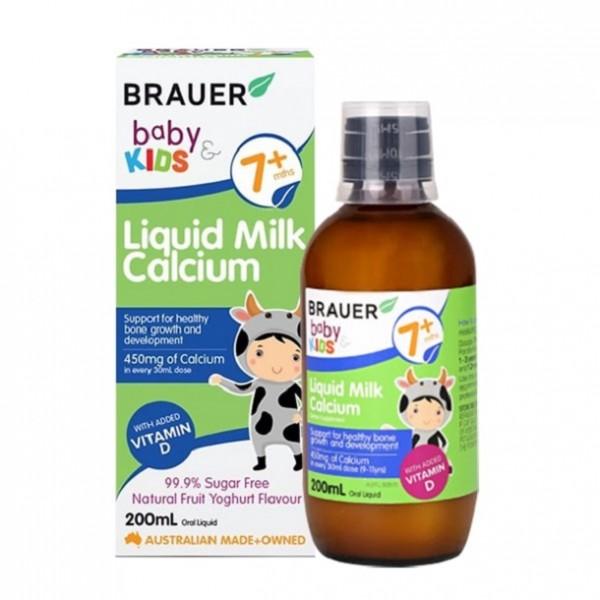 Canxi Dạng Sữa Brauer Baby & Kids Liquid Milk Calcium 200ml