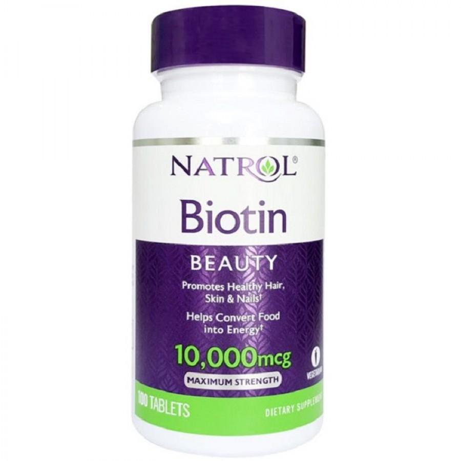 Viên Uống Natrol Biotin 10000 Mcg Của Mỹ