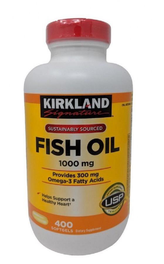 Dầu Cá Kirkland Signature 1000Mg Của Mỹ 400 Viên