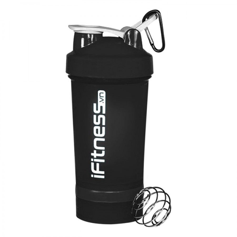 Bình Lắc IFitness Pro Shaker 4 In 1
