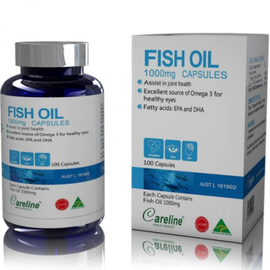 Dầu Cá Fish Oil 1000mg Hãng Careline 100 Viên