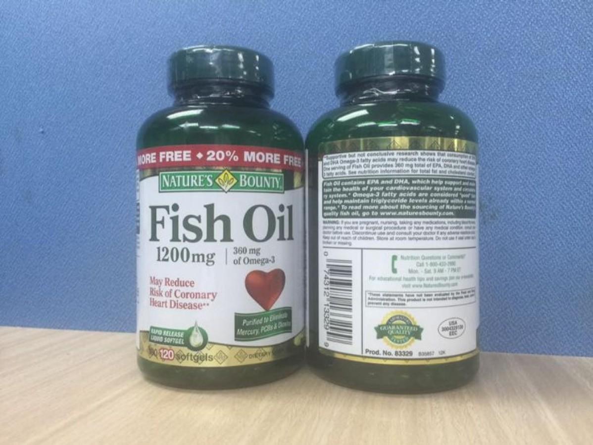 Dầu Cá Nature's Bounty Fish Oil 1200mg Hộp 200 Viên