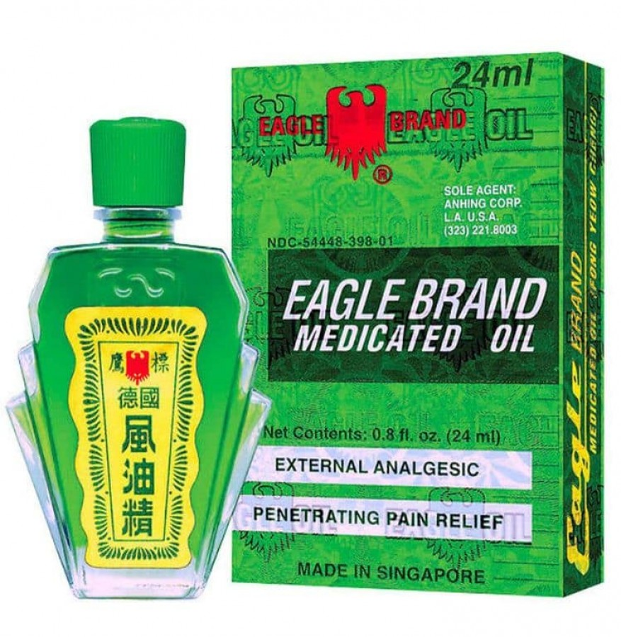Dầu Gió Singapore Con Ó Eagle Brand 24ml