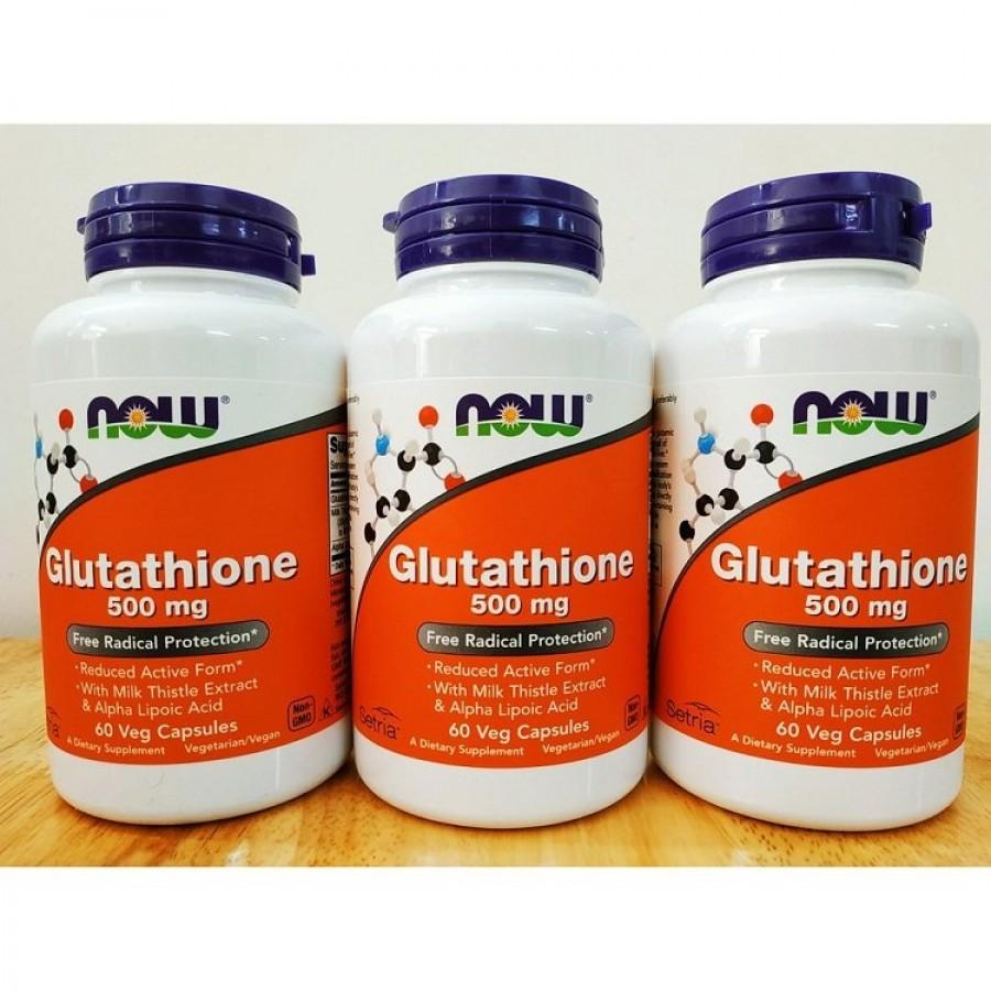 Viên Uống Hỗ Trợ Trắng Da Glutathione Now 500 Mg Của Mỹ