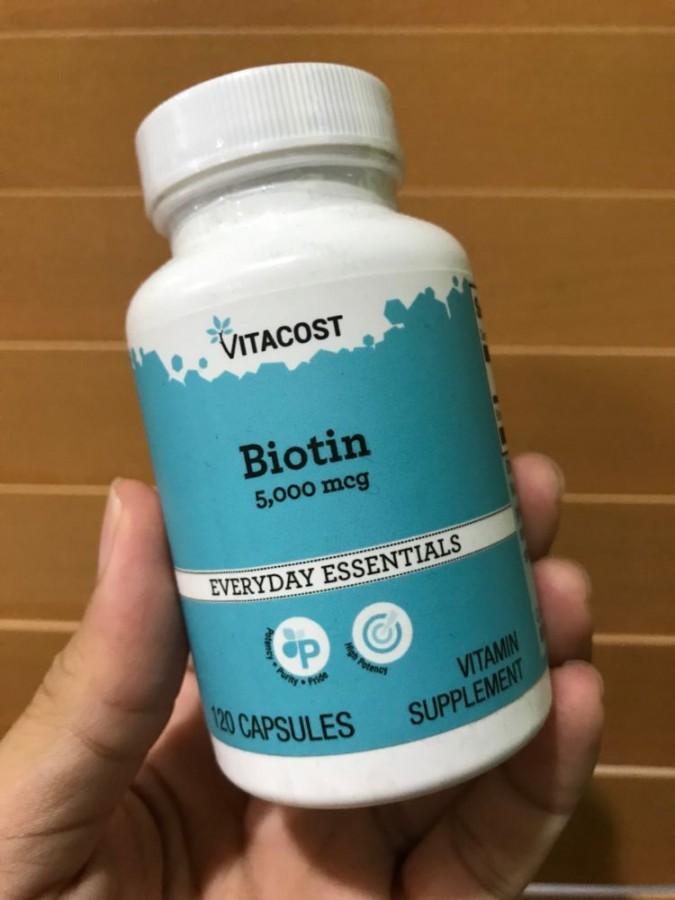 Viên Uống Mọc Tóc Vitacost Biotin 10000mcg Của Mỹ