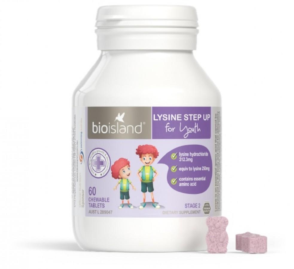 Bio Island Lysine Viên Uống Tăng Chiều Cao Của Úc