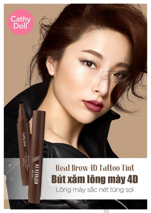 Bút Kẻ Mày Real Brow 4D Tattoo Tint Của Hàn Quốc