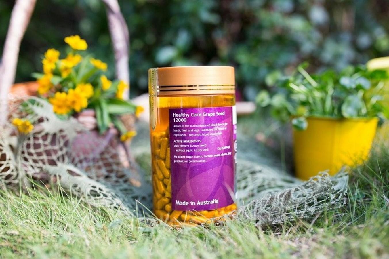 Tinh Chất Hạt Nho Úc Healthy Care Grape Seed 12000