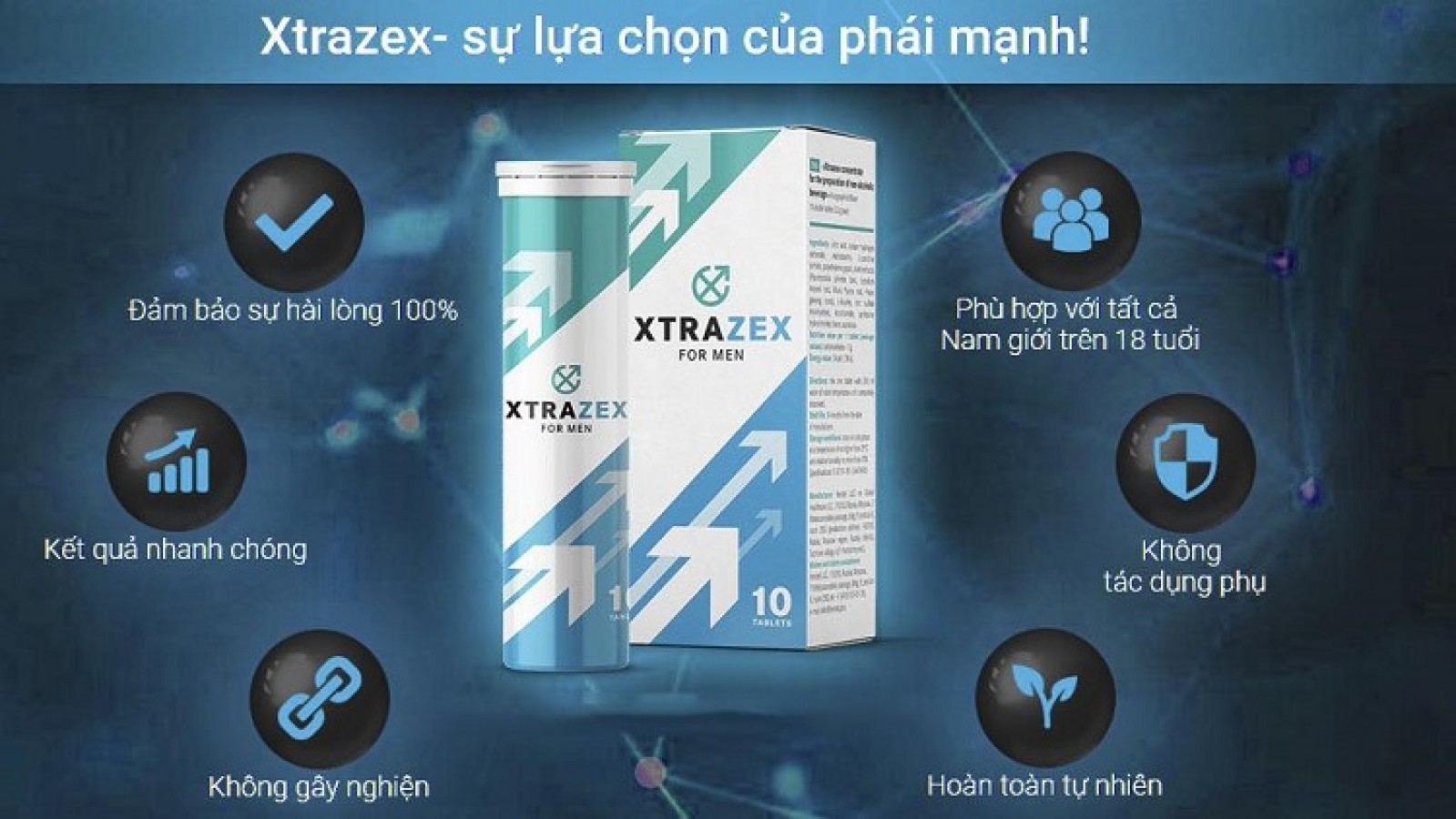 Viên Sủi Xtrazex Tăng Cường Sinh Lý Cho Nam