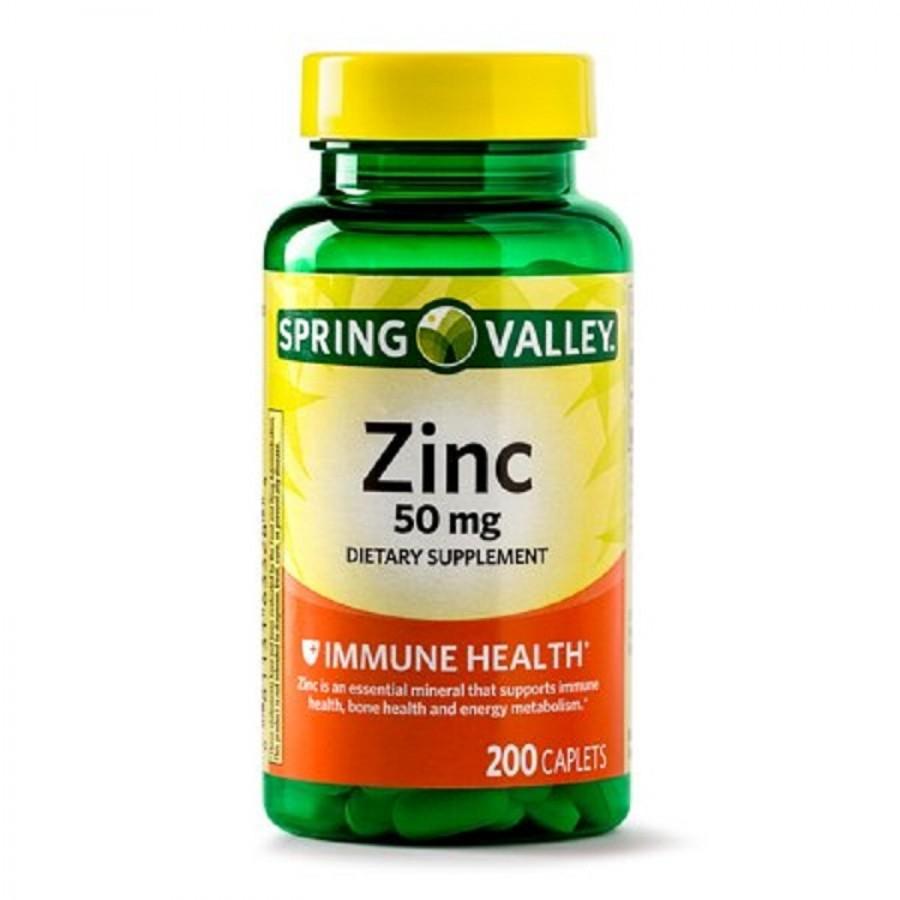 Viên Uống Bổ Sung Kẽm Spring Valley Zinc 50mg