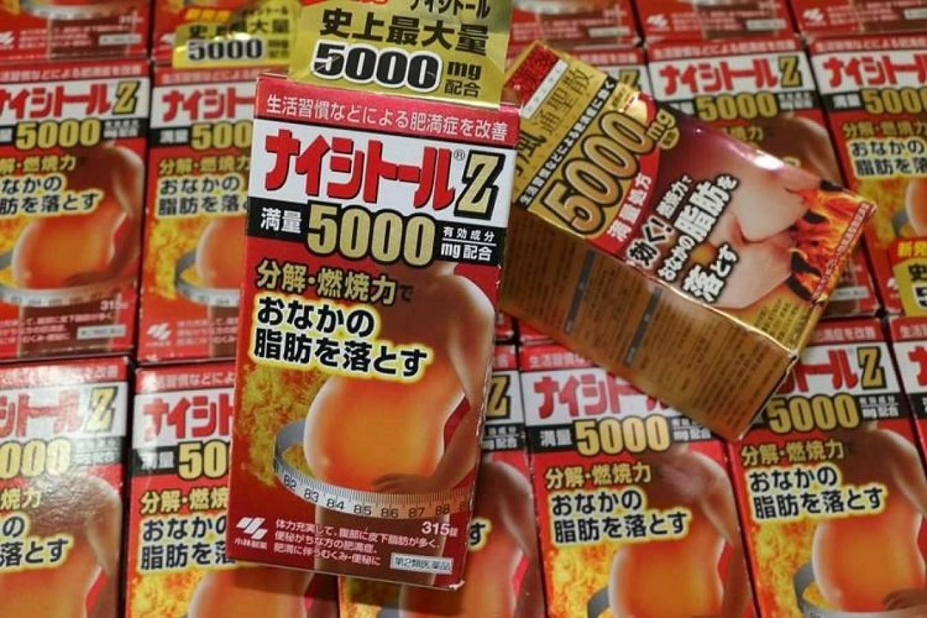 Viên Uống Giảm Mỡ Bụng Kobayashi Naishituro Z5000, 315 Viên