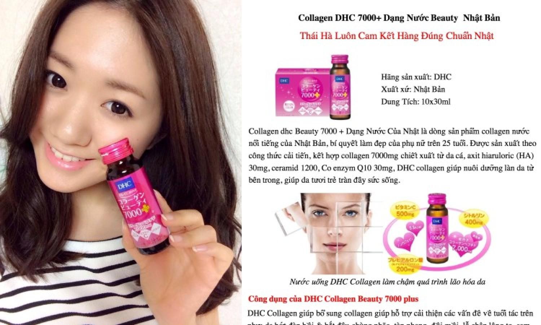 Collagen DHC Dạng Nước 7000 10 Chai