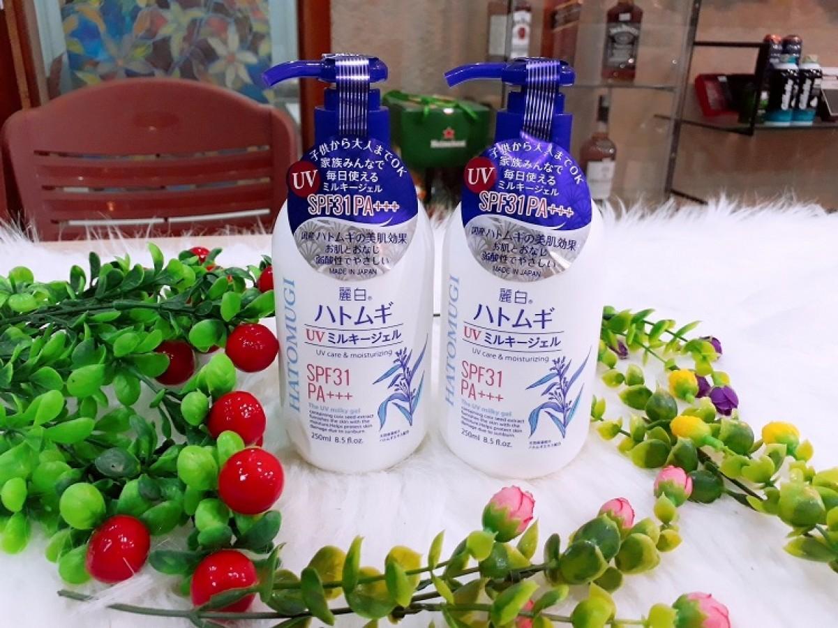 Sữa Dưỡng Thể Chống Nắng Hatomugi SPF31 PA+++ 250ml