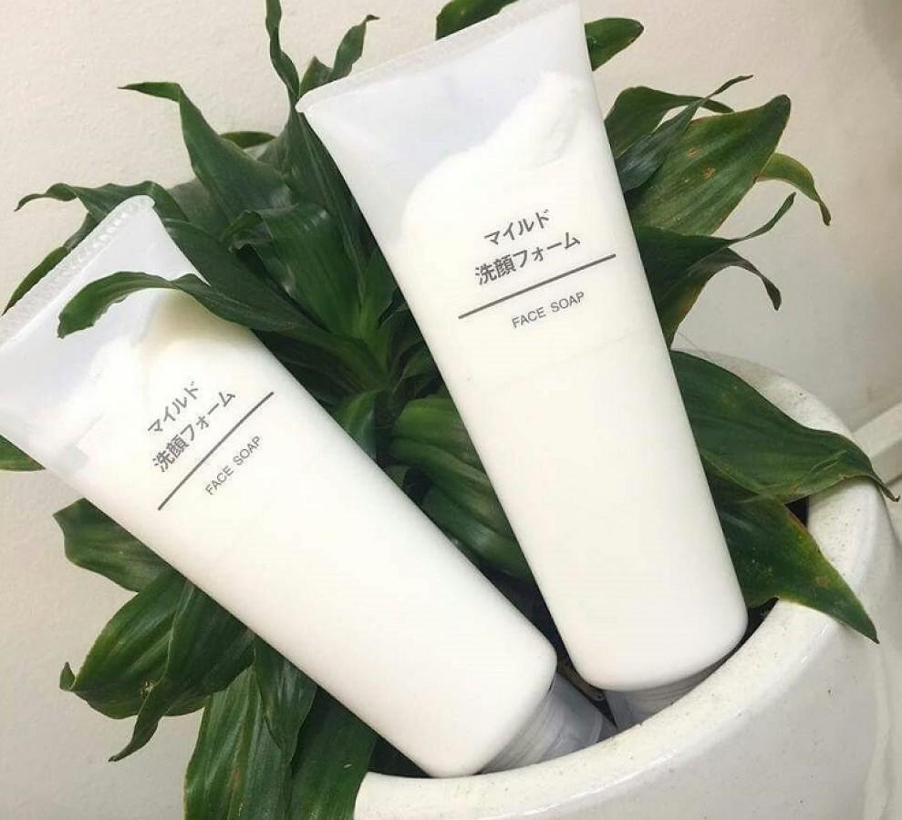 Sữa Rửa Mặt Muji Face Soap Nhật Bản 120g