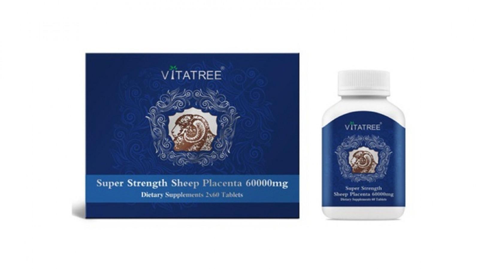 Nhau Thai Cừu Vitatree Super Strength Sheep Placenta 60000mg