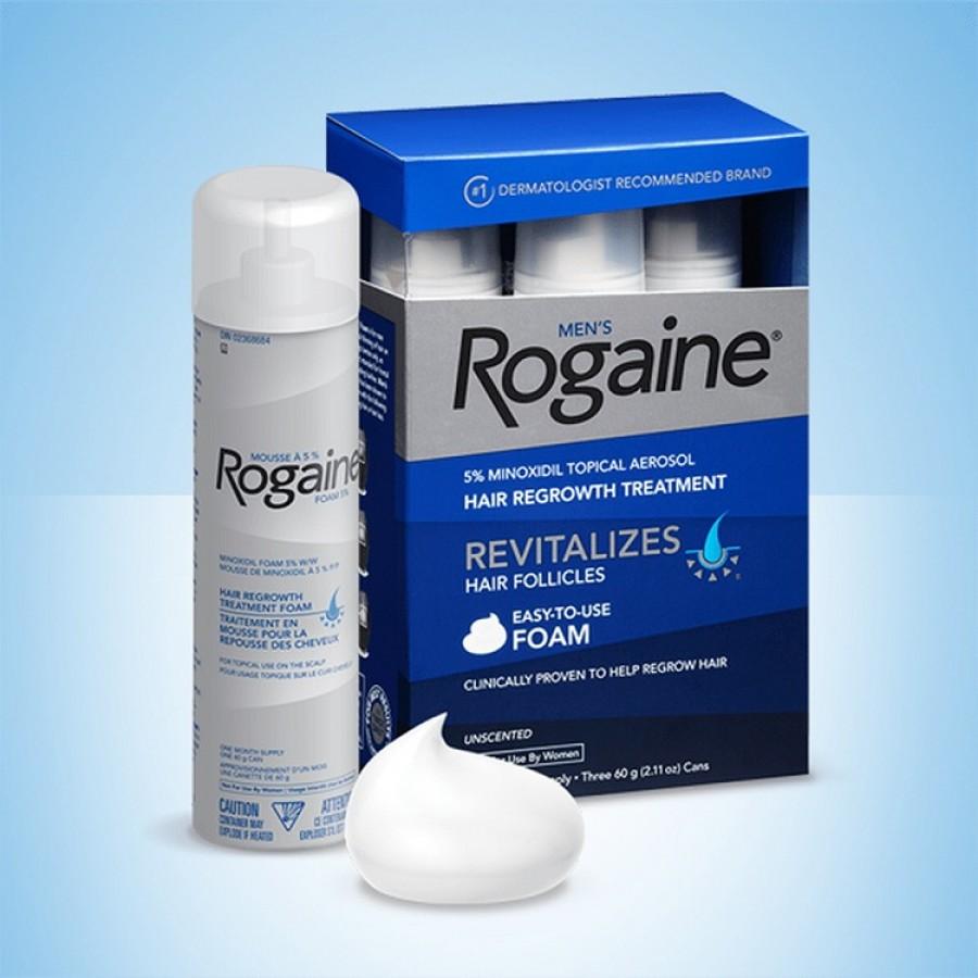 Minoxidil 5% Men's Rogaine Foam  - Hỗ Trợ Mọc Tóc Cho Nam Giới