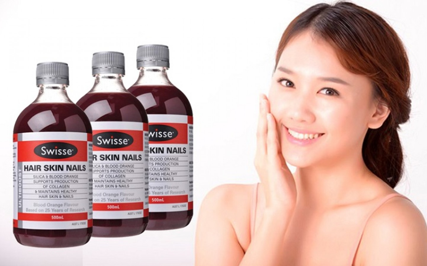 Collagen Dạng Nước Swisse Hair Skin Nails 500ml