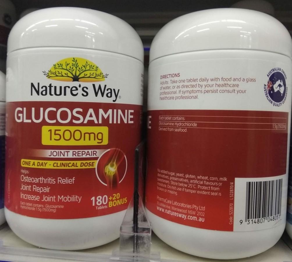 Viên Uống Bổ Xương Khớp Glucosamine 1500mg Nature's Way Của Úc
