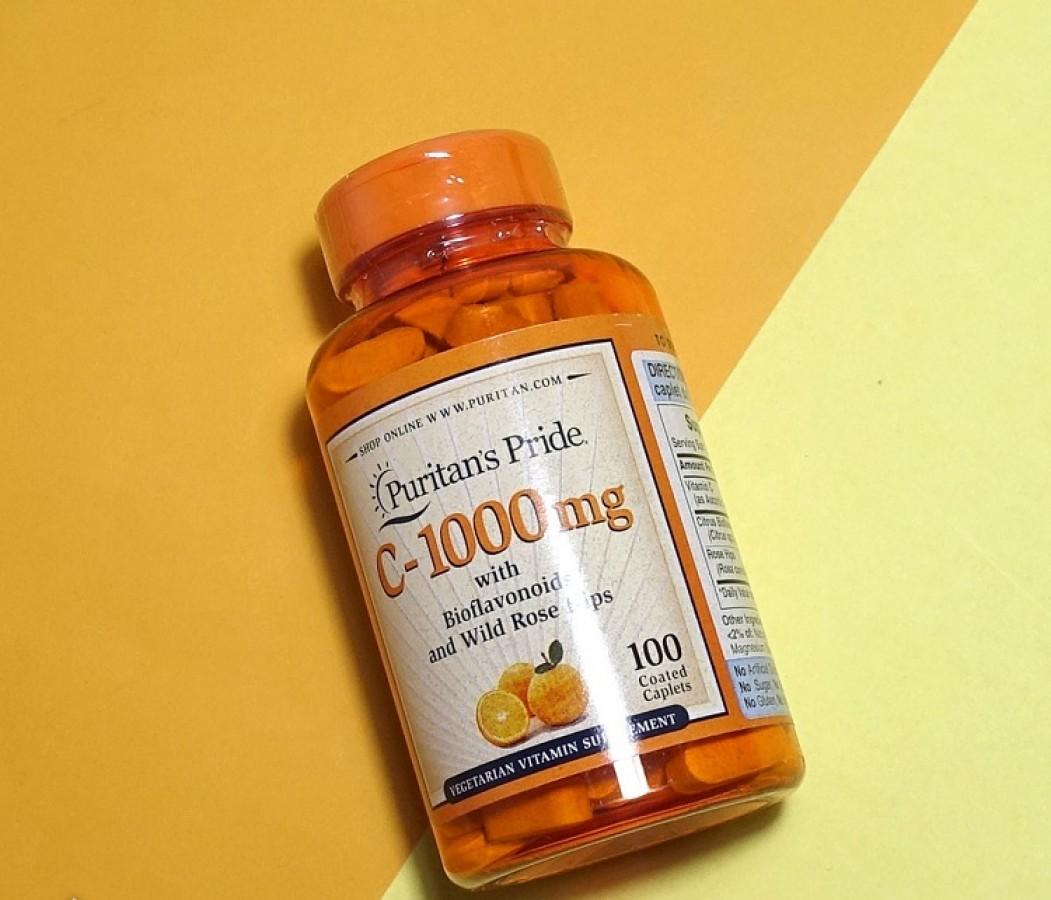Viên Uống Vitamin C Puritan's Pride 1000mg Hộp 100 Viên